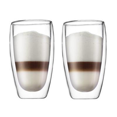PAVINA doppelwandiges Glas 2er Set 0,45L