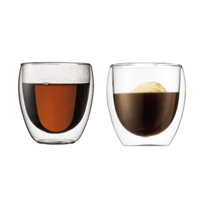 PAVINA doppelwandiges Glas 2er Set 0,25L