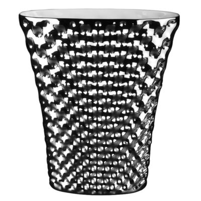Vase VIBRATIONS oval platin