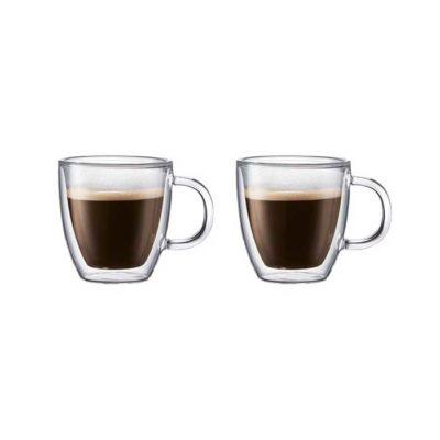 2er Set Doppelwandige Tassen 0,3L BISTRO