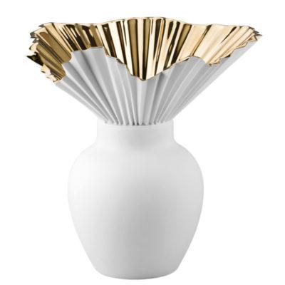 Vase FALDA gold titanisiert 27 cm