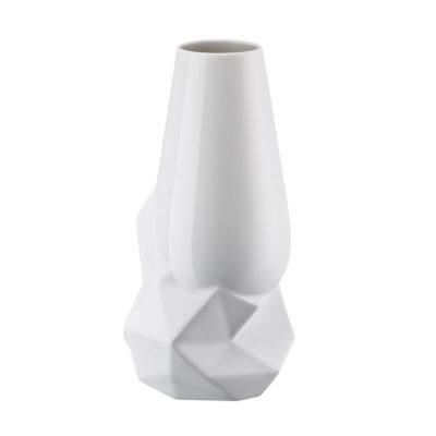 Vase GEODE weiss 27 cm