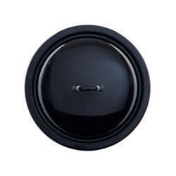 Deckel schwarz Emaille 28 cm