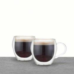 Doppelwandige Espressotassen Glas 2er Set