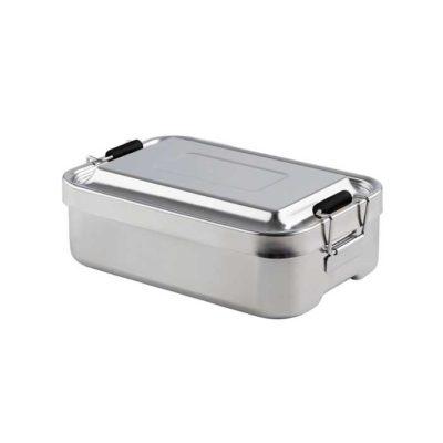 Lunchbox aus Edelstahl 18 x 12 cm