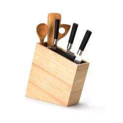 Messerblock mit Utensilienfach, schräg