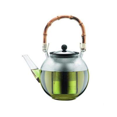 ASSAM Teekanne mit Bambusgriff 1,5 Liter