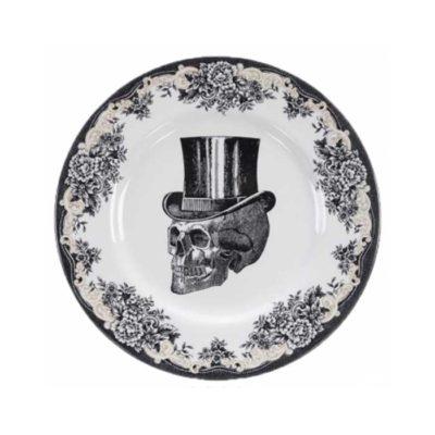 SKULL Design Top Hat Platte 28 cm