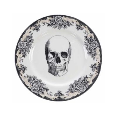 SKULL Design Bald Skull Platte 28 cm