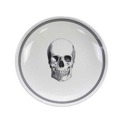 SKULL Design Bald Skull Schüssel 24×3 cm