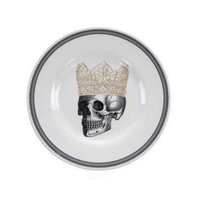 SKULL Design Crown Teller 21 cm