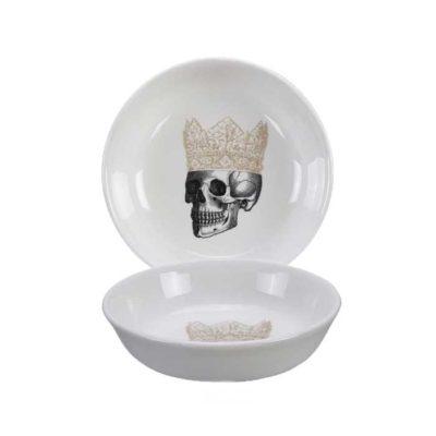 SKULL Design Crown Dip Schale 11 cm