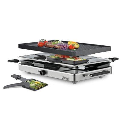 Raclette 8 Inox mit Alugrillplatte