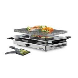 Raclette 8 Inox mit Granitplatte