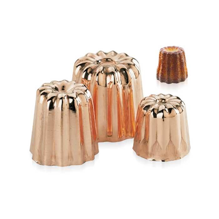 Canelés Förmchen aus Kupfer