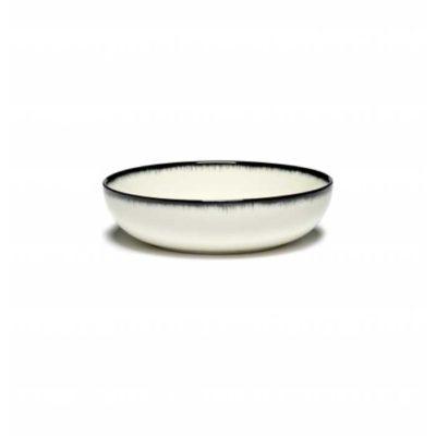 Schale 15,5 cm schwarz/weiss Var A