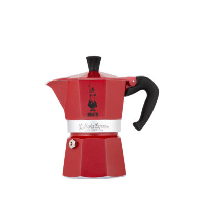 Espressokocher Moka Express rot 3 Tassen