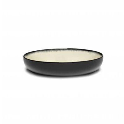 Schale 18,5 cm schwarz/weiss Var D