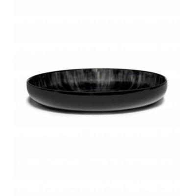 Schale 24 cm schwarz/weiss Var C