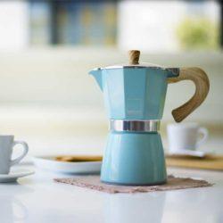 Espressokocher VENEZIA hellblau 3 Tassen