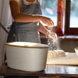 Brotdose TIERRA milchweiss