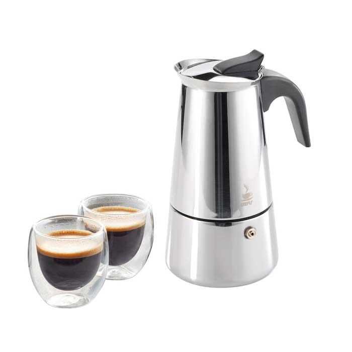 Espressokocher EMILIO Set mit Thermogläsern