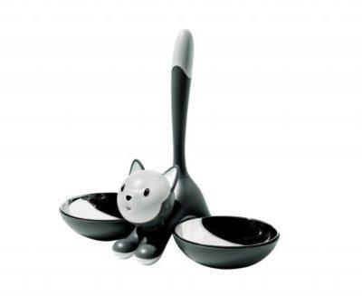 TIGRITO Katzenfutterstation, grau