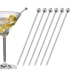 Cocktailpicker Edelstahl 6er Set