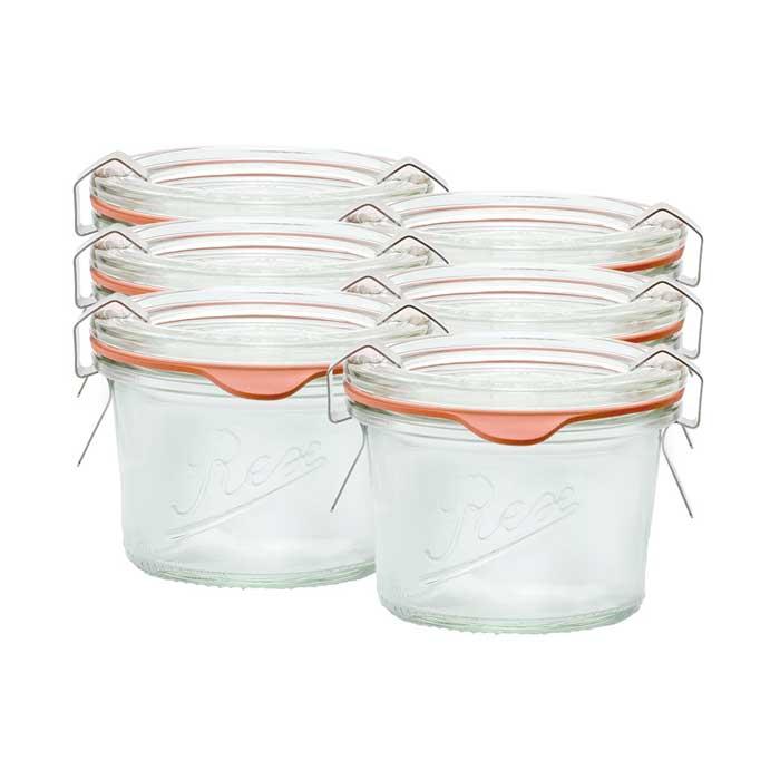 Sturz-Einkochglas REX 80 ml 6er Karton