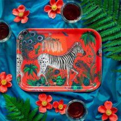 Tablett LOST WORLD RED Tablett 27 x 20 cm