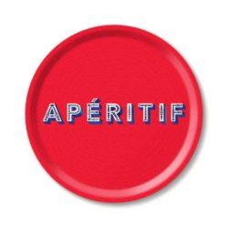 Tablett APERITIF RED rund 31 cm