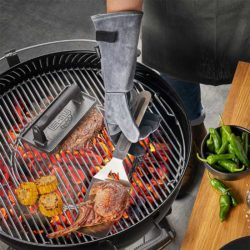 Grillhandschuhe BBQ Veloursleder 2 tlg