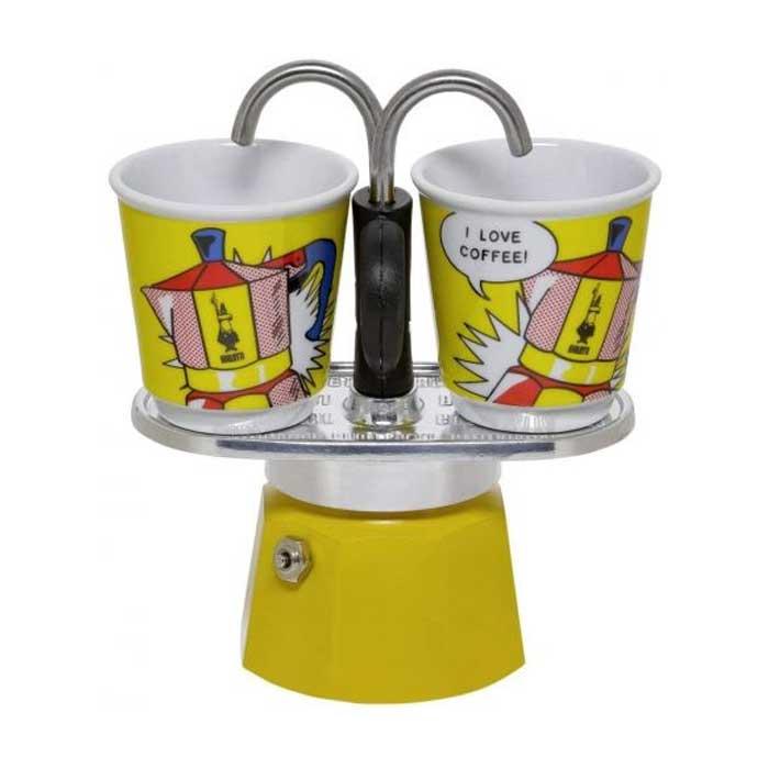 MINI Espressokocher 2 Tassen Lichtenstein gelb