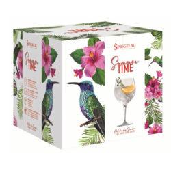 Gin Tonic Stielgläser 4er Set SUMMERTIME Edition